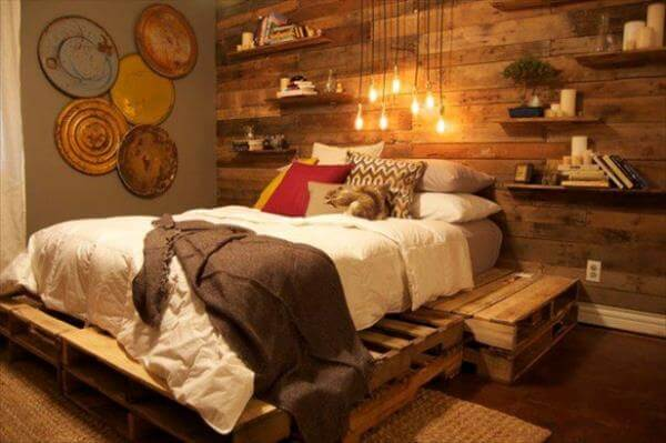 Diy Pallet Bedroom Project Tutorial 99 Pallets