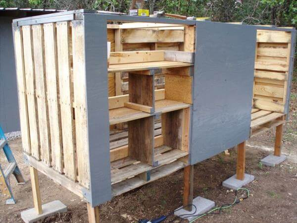 reclaimed pallet chicken coop cabinets