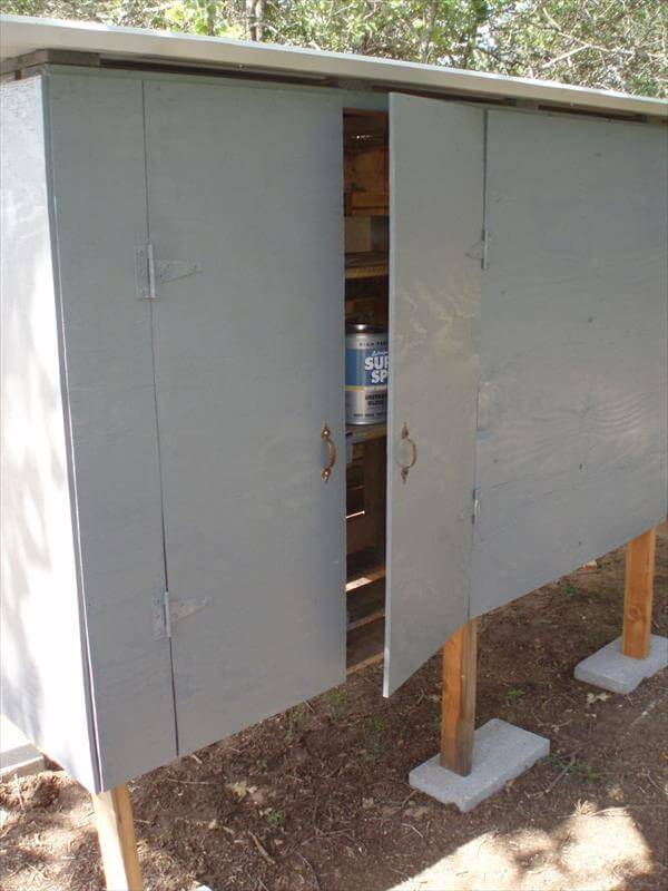 covering the door with plywood