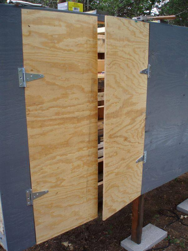 Applying CDX plywood at the doors