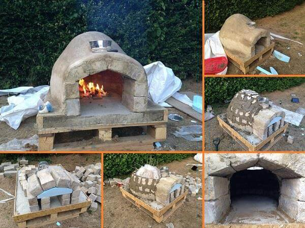 Recycled pallet outdoor pizza oven for Outdoor oven diy