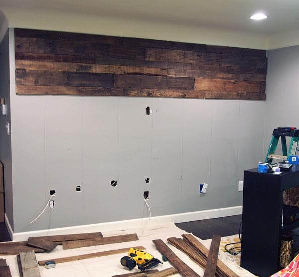 fill the target wall with pallets