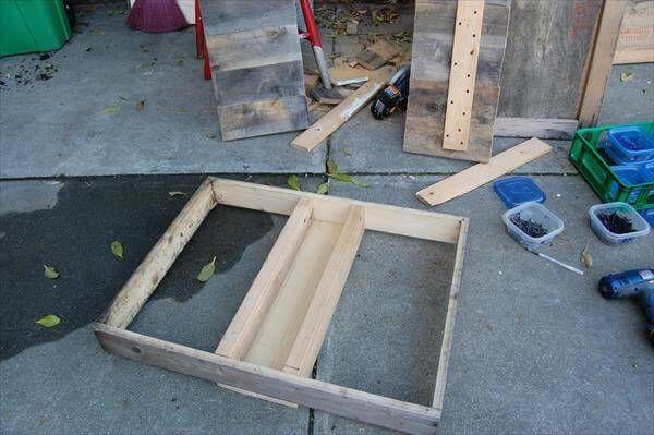 reclaimed pallet succulent table