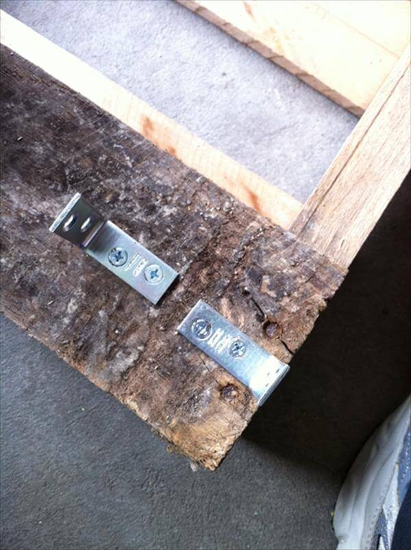 fixing of metal brackets to coffee table