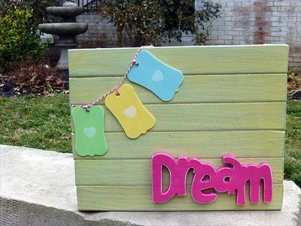 diy pallet 3d wall art
