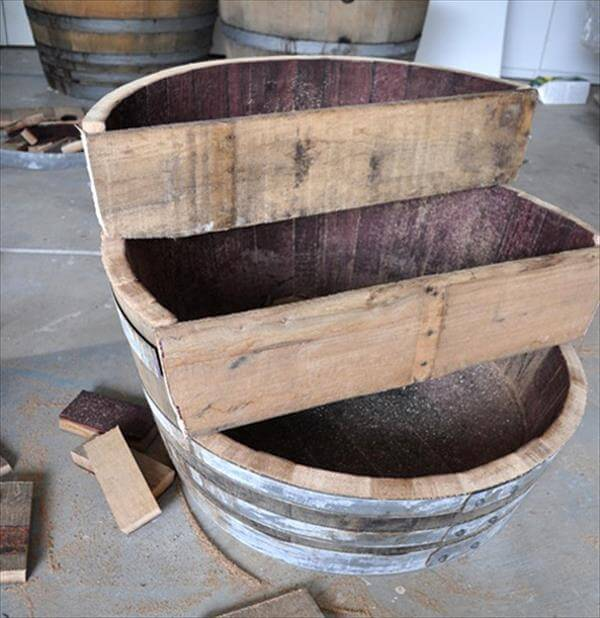 triple bunk pallet barrel planter