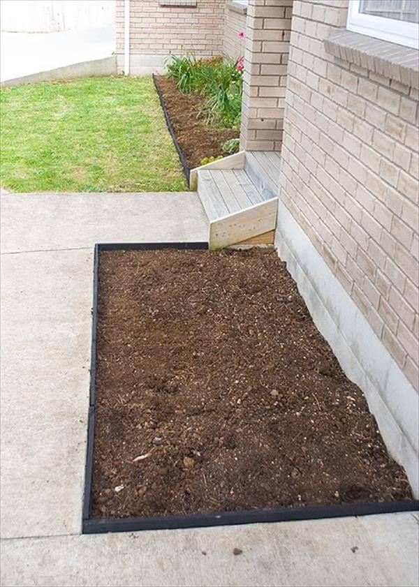 Diy Pallet Garden Bed Edging 99 Pallets