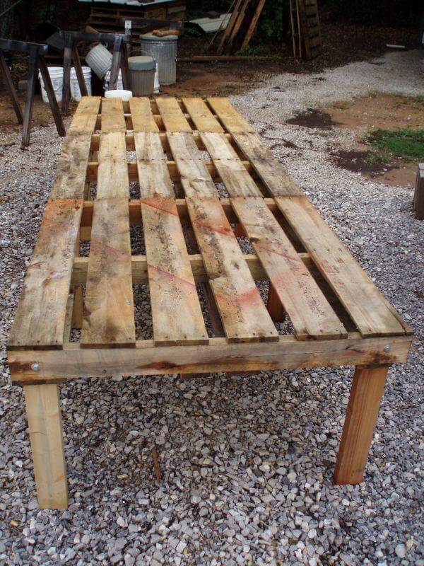 upcycled pallet chicken coop base