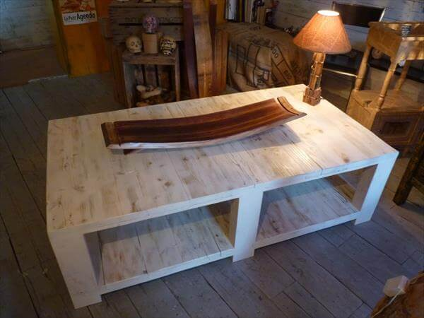 Diy pallet vintage coffee table 99 pallets - Table basse faite maison ...