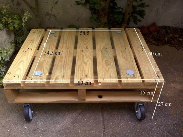 Outdoor pallet coffee table 99 pallets for Table basse palette