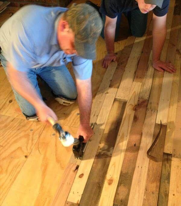 pallet flooring installation