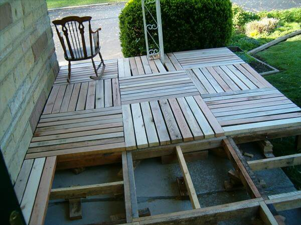 Pallet Patio Swing diy pallet front porch remodeling tutorial | 99 pallets