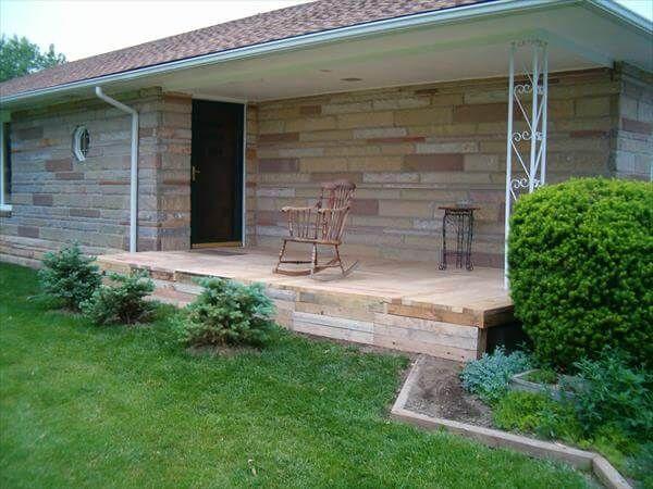diy remodeled front porch floor