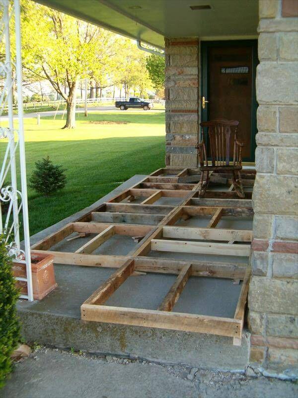 porch pallet floor planning