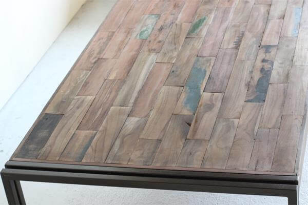 handcrafted rustic pallet metal table
