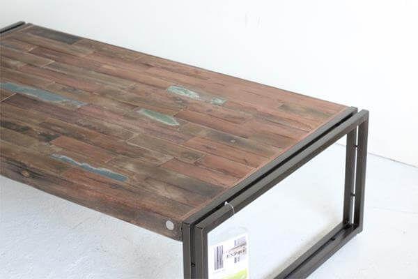 repurposed pallet industrial table