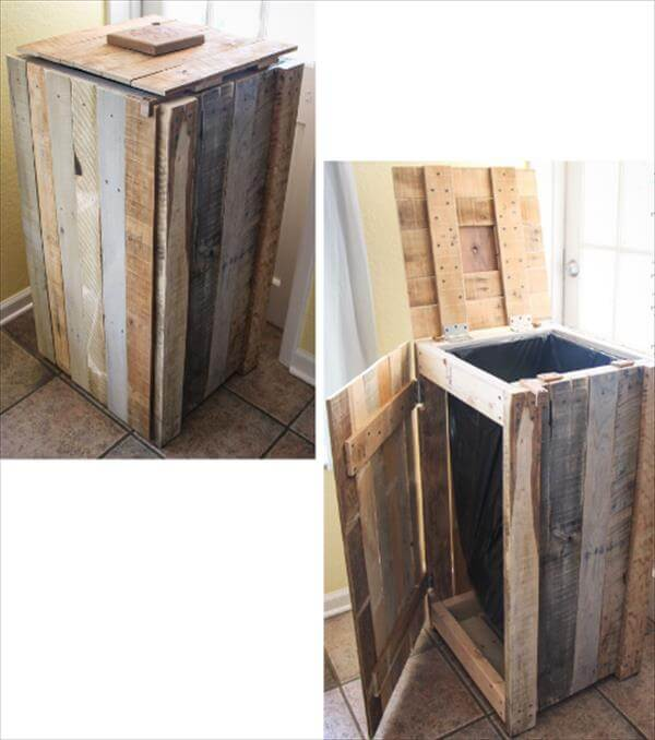 Diy Pallet Recycle Bin Makeover 99 Pallets
