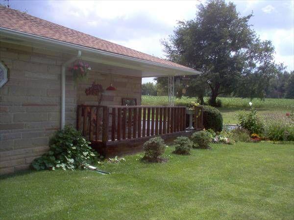 diy pallet remodeled front porch