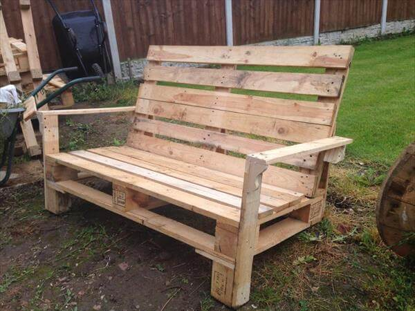 Pallet Two Seater Bench | 99 Pallets