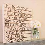 DIY Good Sayings: Pallet Wall Art