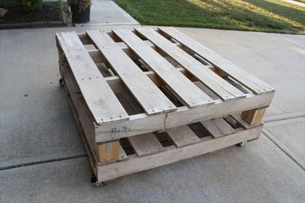 Making coffee table out of pallets diy 99 pallets for Coffee table made out of pallet wood