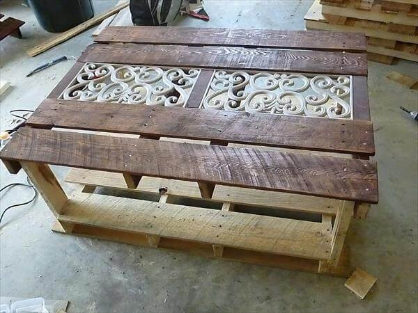 pallet furniture coffee table. restored pallet coffee table furniture