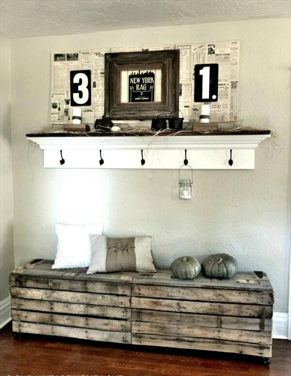 rustic wall bench diy old pallet bench 99 pallets