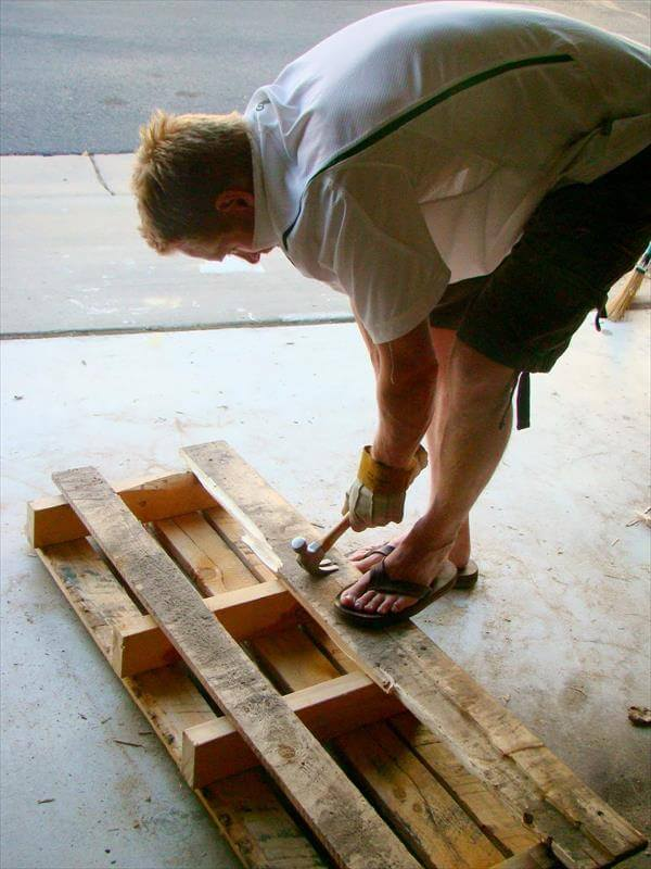 pulling of nails from pallets