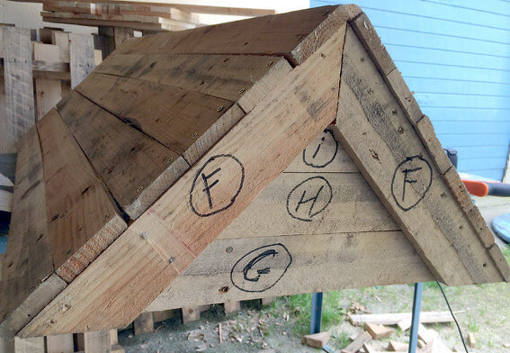 upcycled pallet beehive