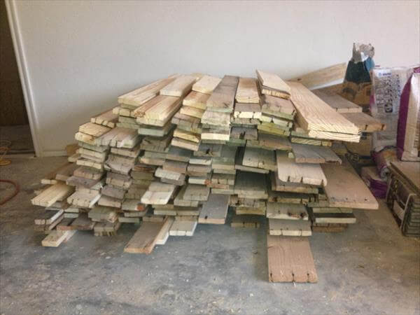 separated pallet planks