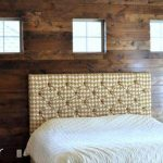 DIY Bedroom Wall Made of Pallets