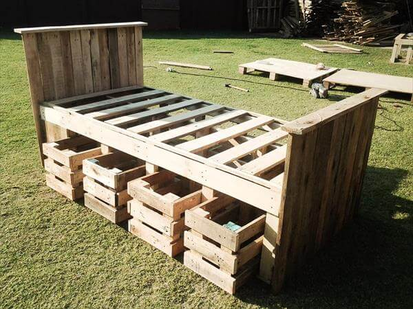Pallet Bed Frame Design | 99 Pallets