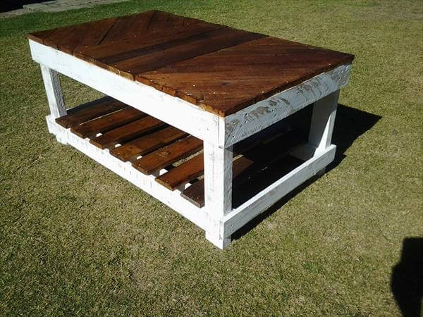 Wood Pallet Coffee Table ~ Diy coffee table out of pallet wood pallets