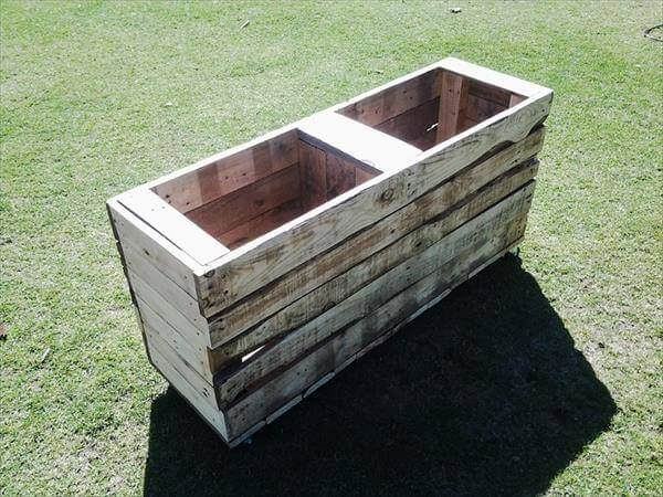 upcycled pallet composite bin