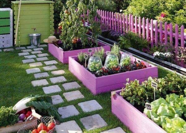 Pallet Garden Ideas best 20 pallet garden benches ideas on pinterest Reclaimed Pallet Garden Beds