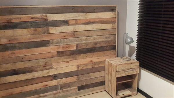 Upcycled Furniture DIY Pallet Headboard 99 Pallets