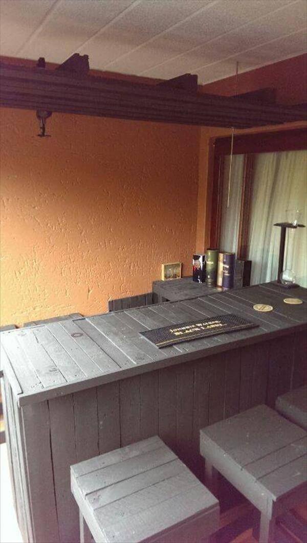 resurrected pallet outdoor bar