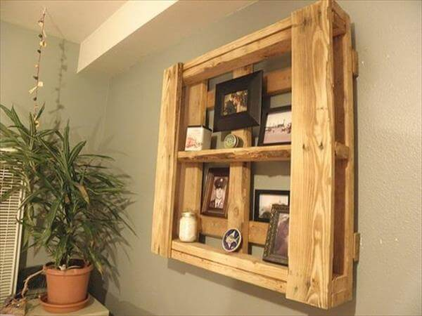 recyled pallet shelf