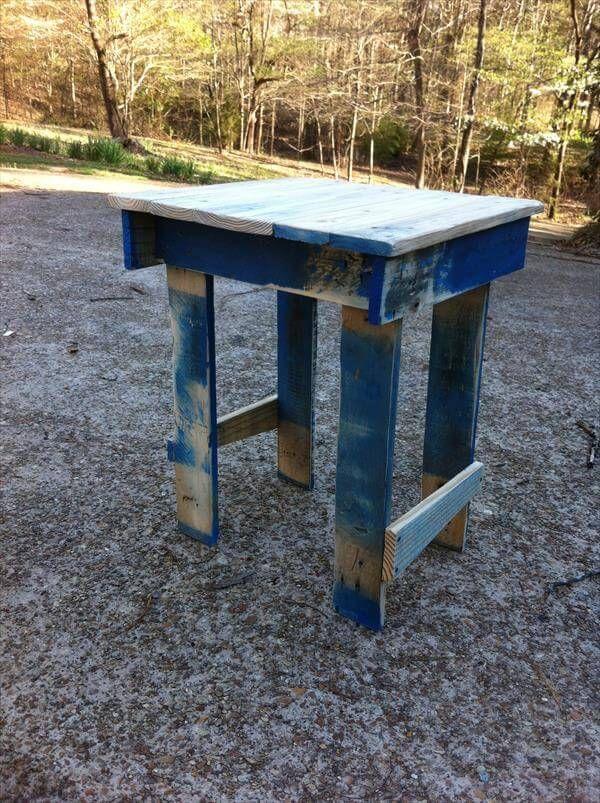 repurposed pallet potting table