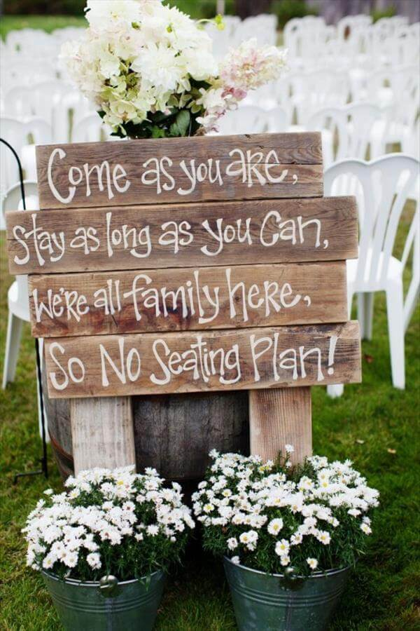 Diy Rustic Pallet Sign For Wedding