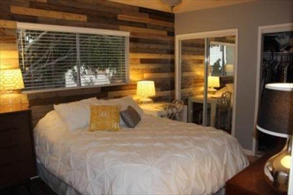 reclaimed pallet wall makeover