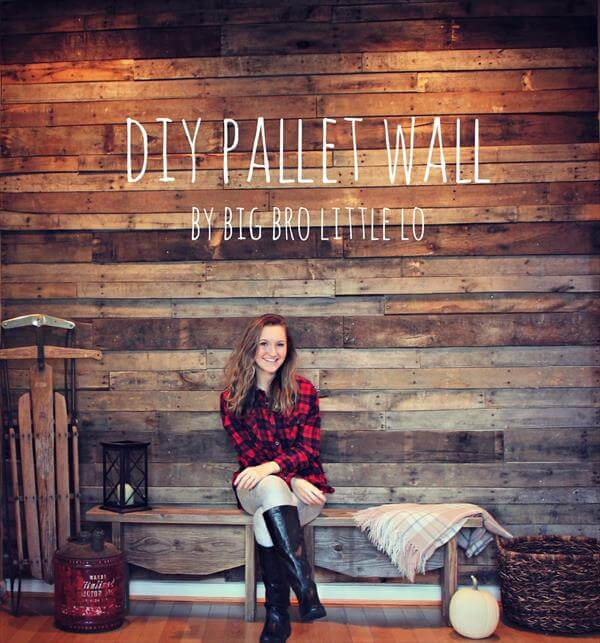 Easy Install Pallet Wood Wall: DIY Easy Pallet Wood Wall