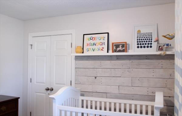 upcycled pallet wood wall