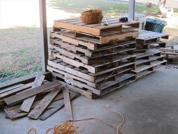 rustic pallets