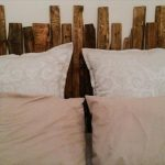 Simple Rustic Pallet Headboard