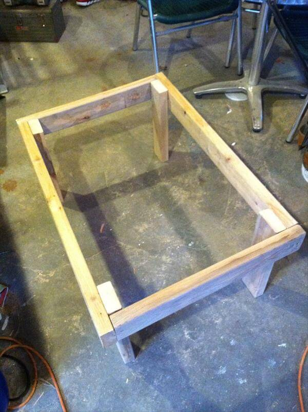 rustic pallet table frame