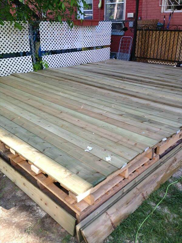 recycled pallet deck