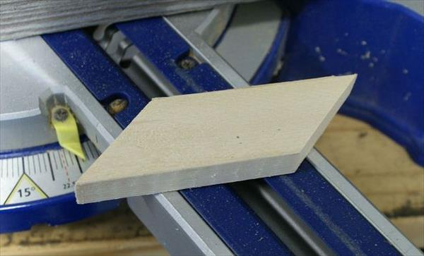 cutting of pallets in 45 degree