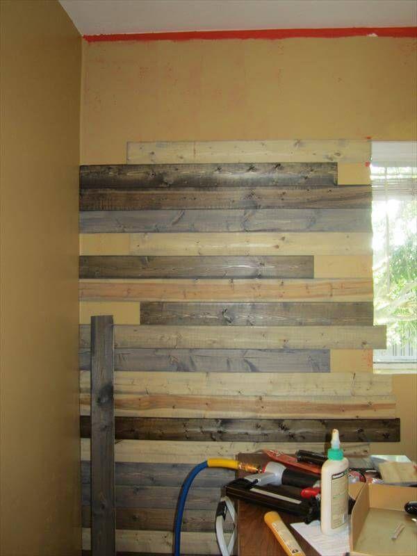 Diy Pallet Bedroom Wall Interior Improvements 99 Pallets