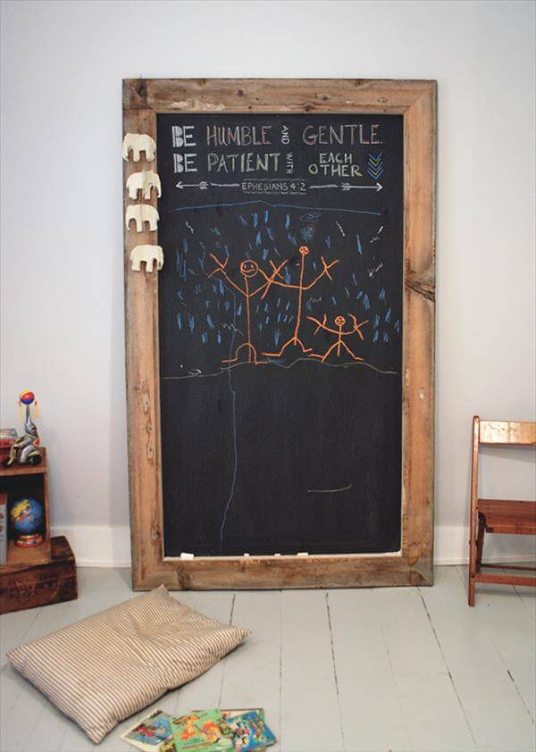 DIY Big Sized Pallet Chalkboard Tutorial 99 Pallets